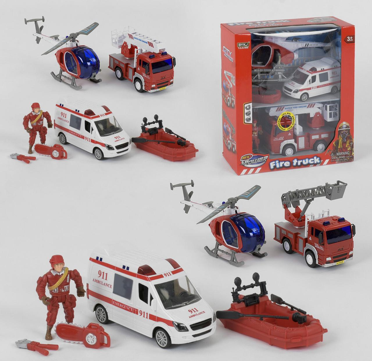 """Набор спецтехники """"Fire Truck"""" 2 вида, свет, звук, в коробке 9931 В / 9931 А"""