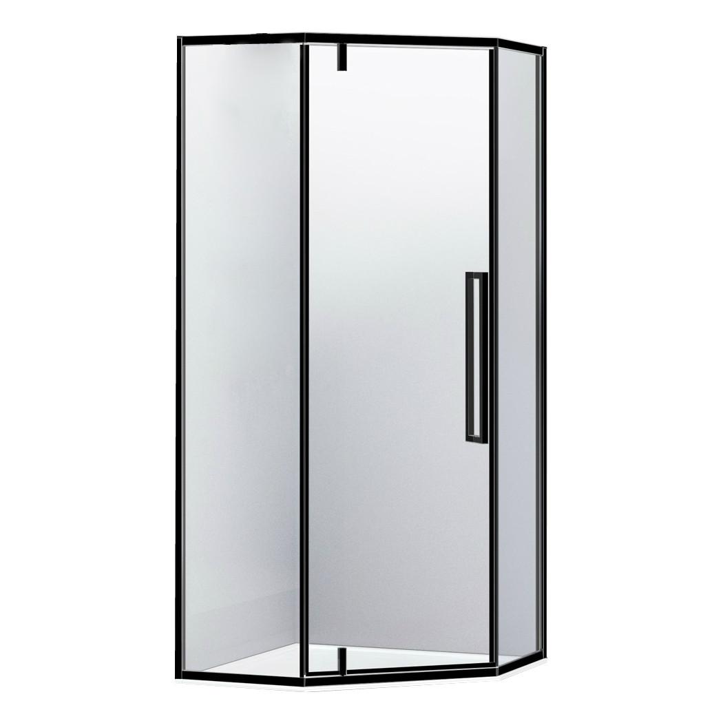 A LÁNY Душевая кабина пятиугольная, реверсивная 900*900*1950мм (стекла+двери), дверь распашная, стекло