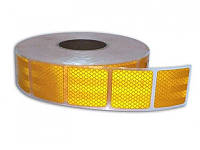 Лента свето-отражающая - желтая - квадрат - 5х100см (1шт)