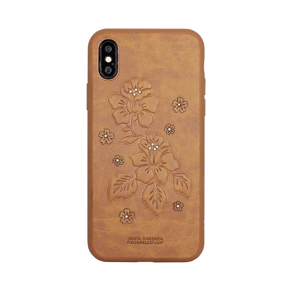 Кожаный чехол Polo Azalea коричневый для iPhone X/XS