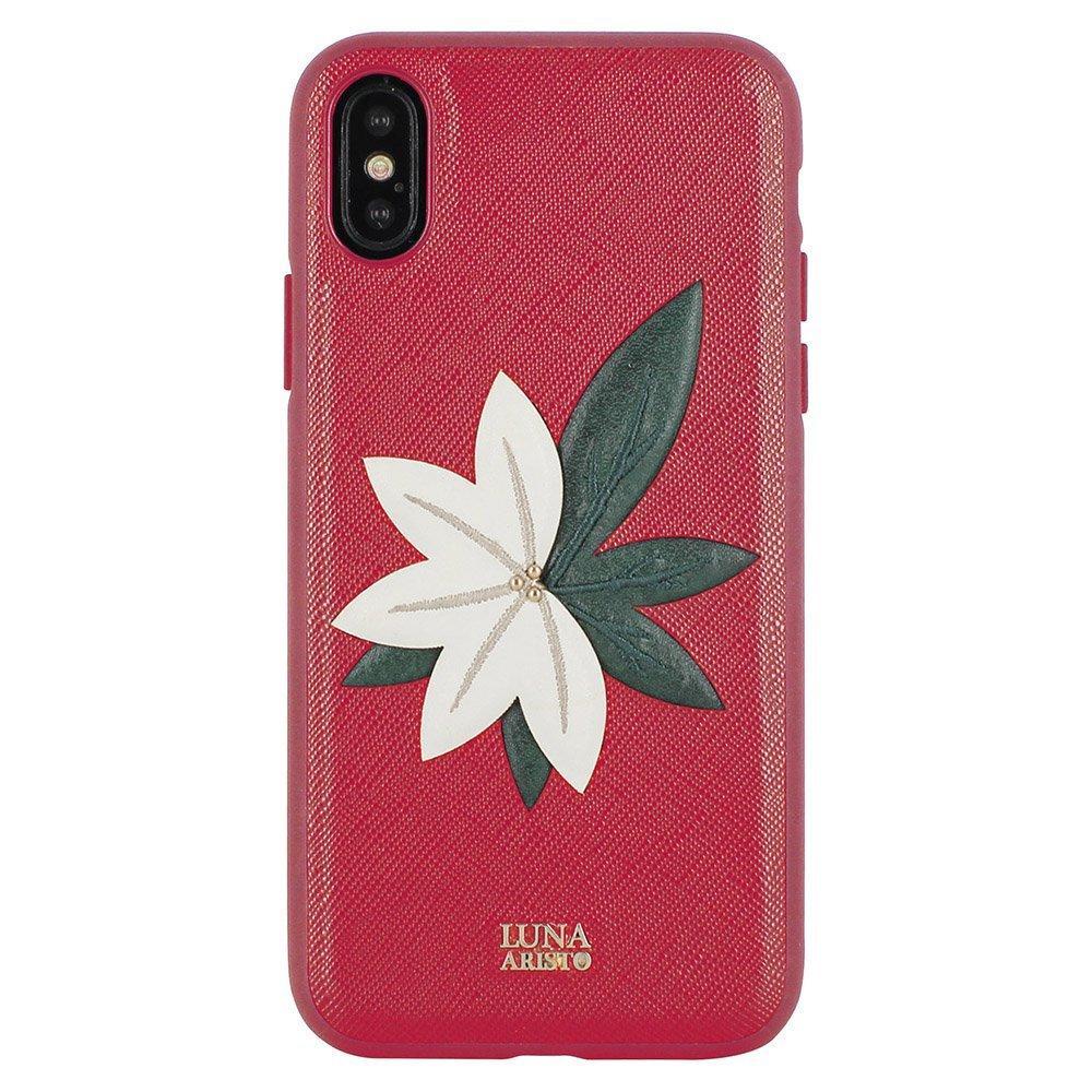 Кожаный чехол Luna Aristo Phyllis красный для iPhone X/XS