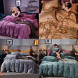 Комплект постельного белья Велюровый Моника евро размер, фото 2