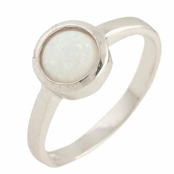 Серебряное кольцо DreamJewelry с опалом 0.375ct (1189450) 17.5 размер