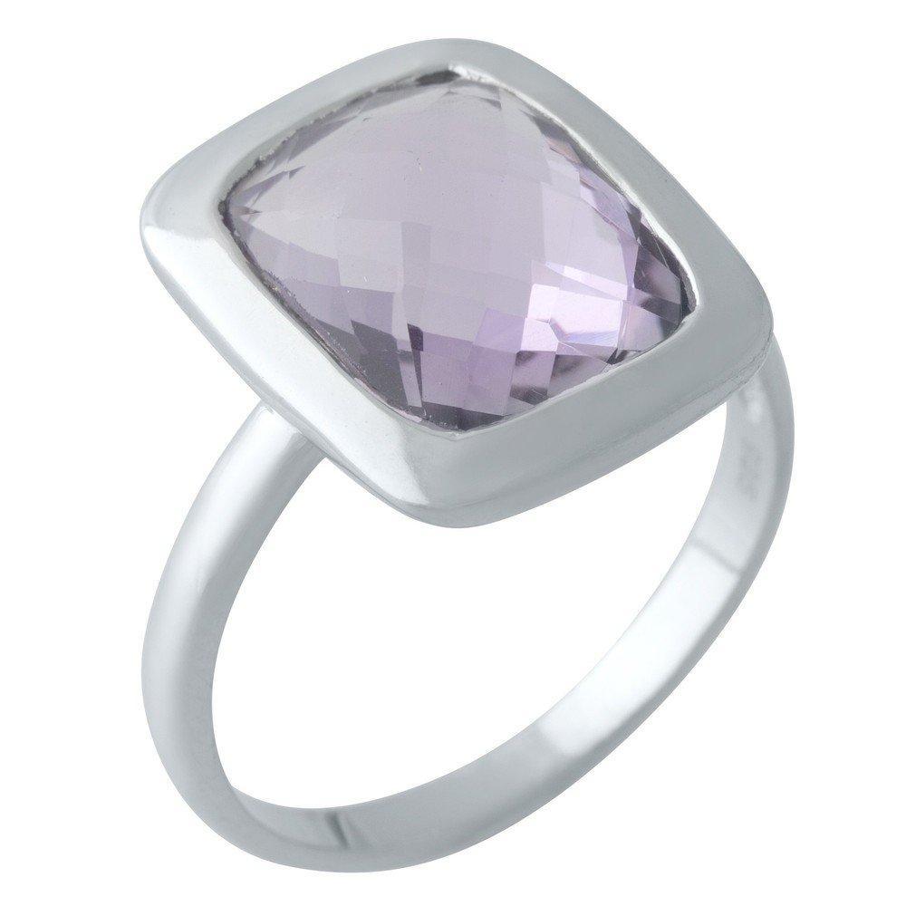 Серебряное кольцо DreamJewelry с натуральным аметистом 6.16ct (2007418) 18 размер