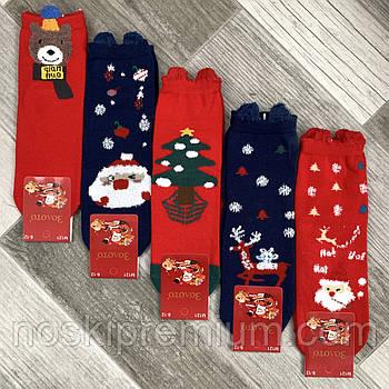 Носки детские демисезонные хлопок Новый год Золото, на 8-12 года, ассорти, М121