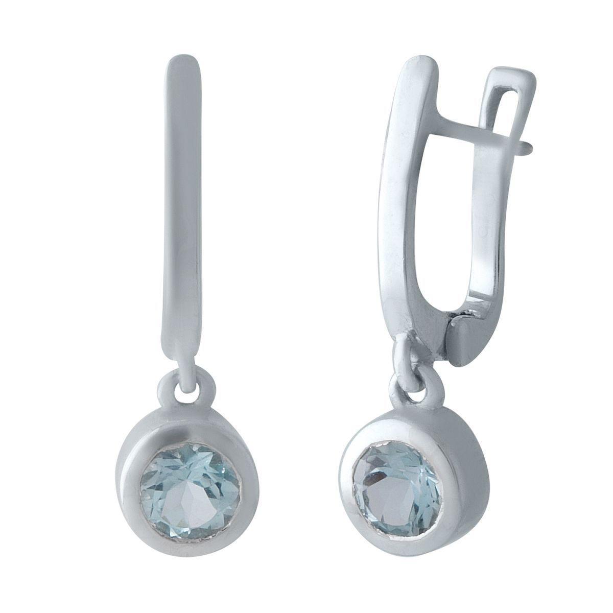 Серебряные серьги DreamJewelry с натуральным топазом (2018889)