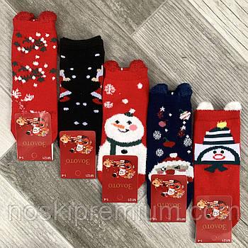 Носки детские демисезонные хлопок Новый год Золото, на 1-4 года, ассорти, М121