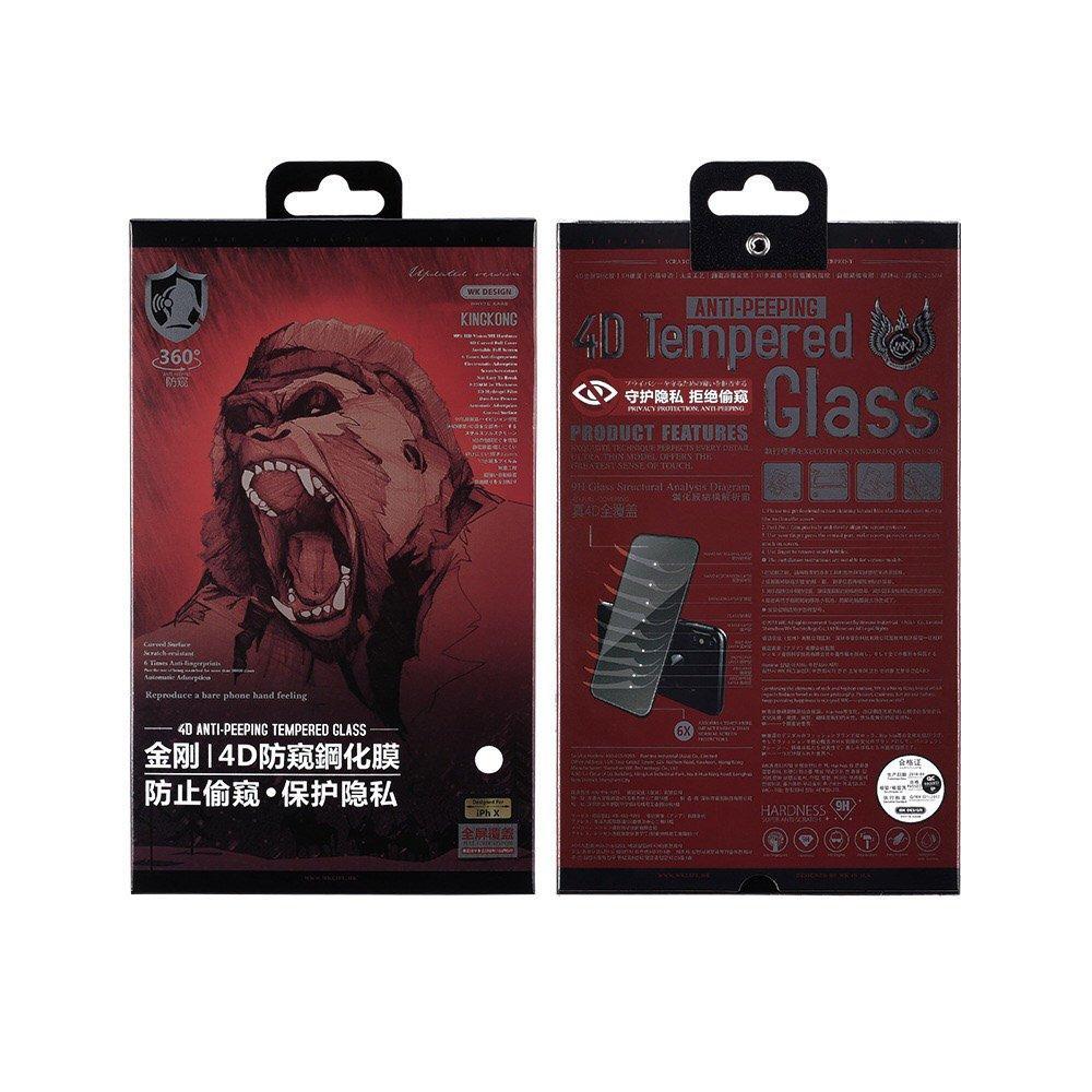 Защитное стекло WK Design Kingkong 4D Privacy (антишпион) черный для iPhone 7 Plus/8 Plus