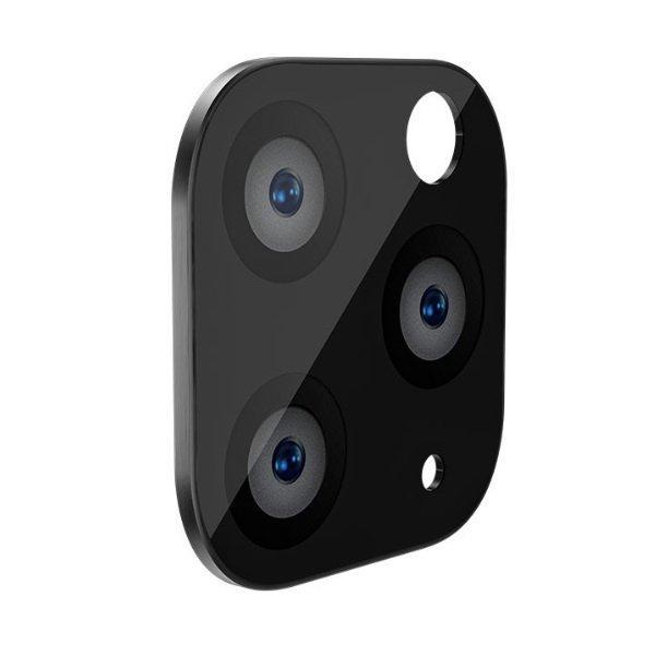 Защитное стекло на камеру WK Design Metal Version чёрное для iPhone 11