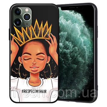 """Чехол силиконовый XIX для iPhone 12 (6.1""""), Queen Girls"""