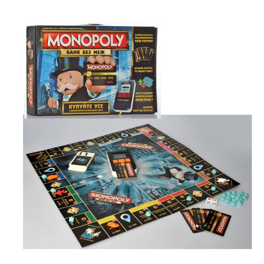 Настольная игра Монополия: Банк без границ на украинском языке