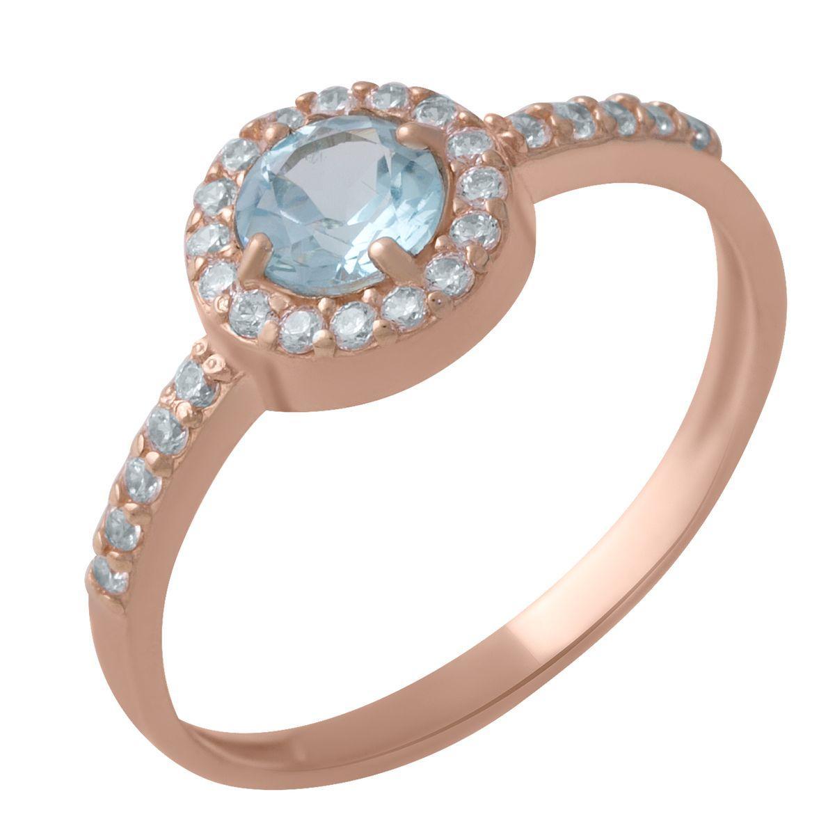 Золотое кольцо DreamJewelry с натуральным топазом 0.6ct (60001258) 18 размер