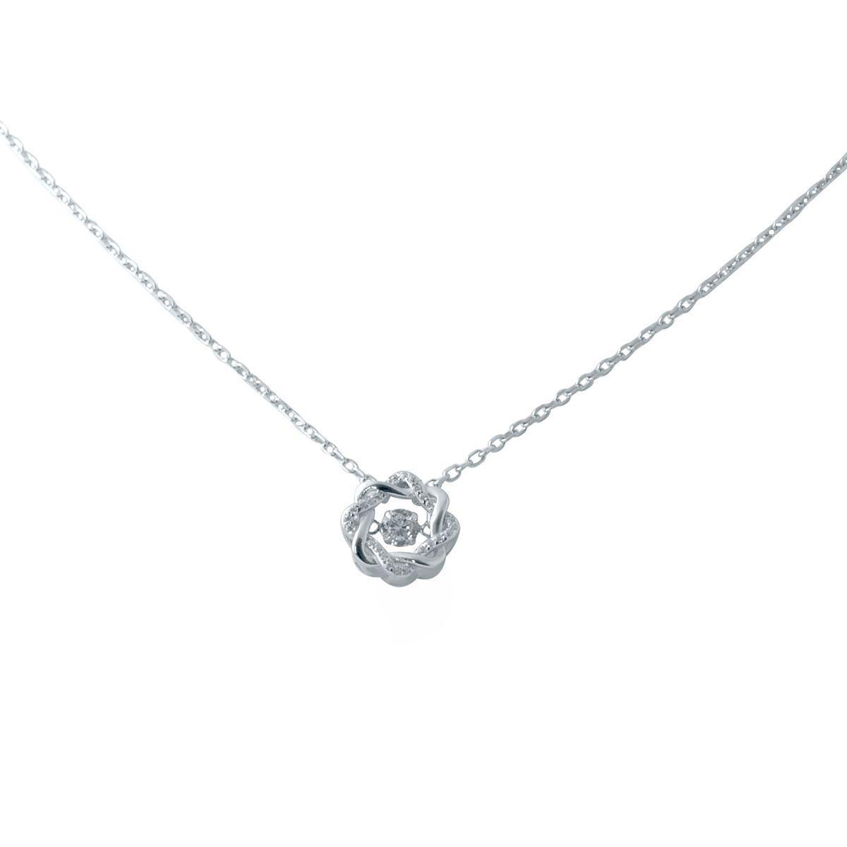 Серебряное колье DreamJewelry с фианитами (2038467) 450 размер