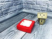 *10 шт* / Коробка для пряников / 100х100х30 мм / печать-Красный / окно-обычн, фото 1