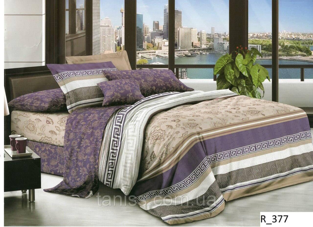 """Полуторный набор постельного белья """"ранфорс"""",  расцветка как на фото"""