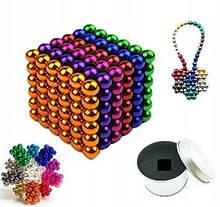 Магнитный конструктор-головоломка Нео Куб Neo Cube 5 мм, магнитные шарики неокуб радужный, игрушка-антистресс