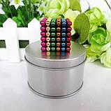 Магнитный конструктор-головоломка Нео Куб Neo Cube 5 мм, магнитные шарики неокуб радужный, игрушка-антистресс, фото 2