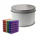 Магнитный конструктор-головоломка Нео Куб Neo Cube 5 мм, магнитные шарики неокуб радужный, игрушка-антистресс, фото 5