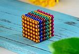 Магнитный конструктор-головоломка Нео Куб Neo Cube 5 мм, магнитные шарики неокуб радужный, игрушка-антистресс, фото 10