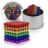 Магнитный конструктор-головоломка Нео Куб Neo Cube 5 мм, магнитные шарики неокуб радужный, игрушка-антистресс, фото 7