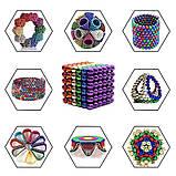 Магнитный конструктор-головоломка Нео Куб Neo Cube 5 мм, магнитные шарики неокуб радужный, игрушка-антистресс, фото 8