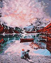 Картина за Номерами Альпи з псом 40х50см RainbowArt