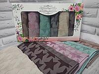 Набор Махровых кухонных полотенец «Звезды»Турция 6 штук
