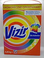 Стиральный порошок Vizir для цветных тканей (картон), 4.725 кг