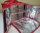 Термосумка для пиццы с полочкой на каркасе из ПВХ ткани. Застежка молния, фото 3
