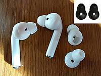 Амбушюры вакуумные для Samsung, Apple EarPods, AirPods, Huawei Frebuds, vivo, xiaomi (белые, черные))