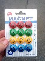 Магнит для доски 1571 смайлик 12шт (2см)