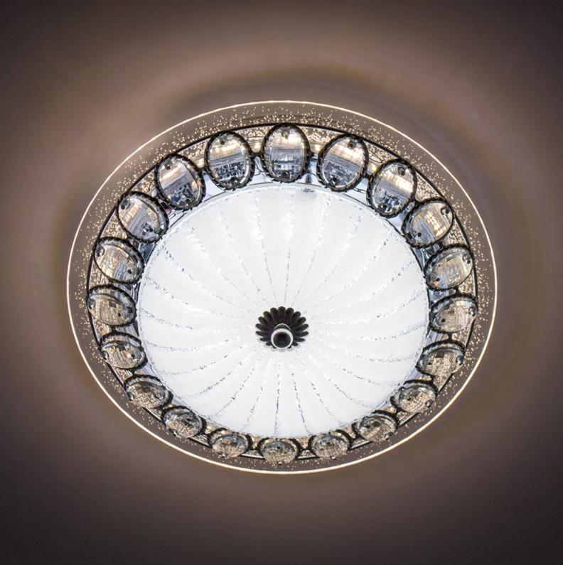 Потолочный светодиодный светильник LUMINARIA CASABLANCA CHROME 25W R300 ON/OFF WHITE 220 IP20
