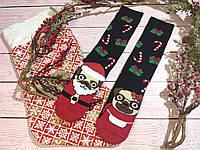 🎄 Разные новогодние черные носки с песиками BAH HUM PUG 36-41 размер LEONORA, фото 1