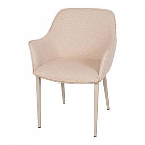 Обеденное кресло MILTON (Милтон) рогожка бежево-оранжевый от Nicolas