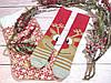 🎄 Разные новогодние красные носки с оленем 36-41 размер LEONORA