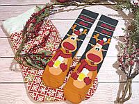 🎄 Парные новогодние носки с оленями WISHLIST BEER 36-41 размер LEONORA, фото 1