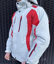 ТОП КАЧЕСТВО! Мужская горнолыжная и для сноуборда Куртка Snow Headquarter Бело-красная