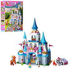 Конструктор для девочек Замок принцессы SLUBAN 0610 Розовая мечта, 815 деталей