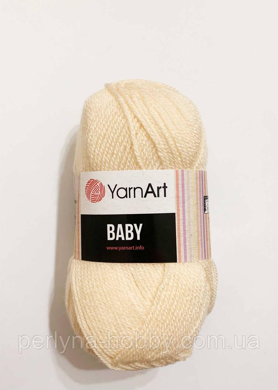 Пряжа акриловая детская  Baby YarnArt, 100% акрил   50 гр., 150 м,  Колір 854 , персиково-ванільний