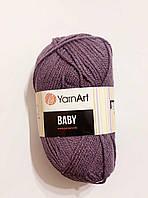 Пряжа Baby YarnArt, 100% акрил 50 гр., 150 м, Колір 852, сіро-фіолетова пастельна