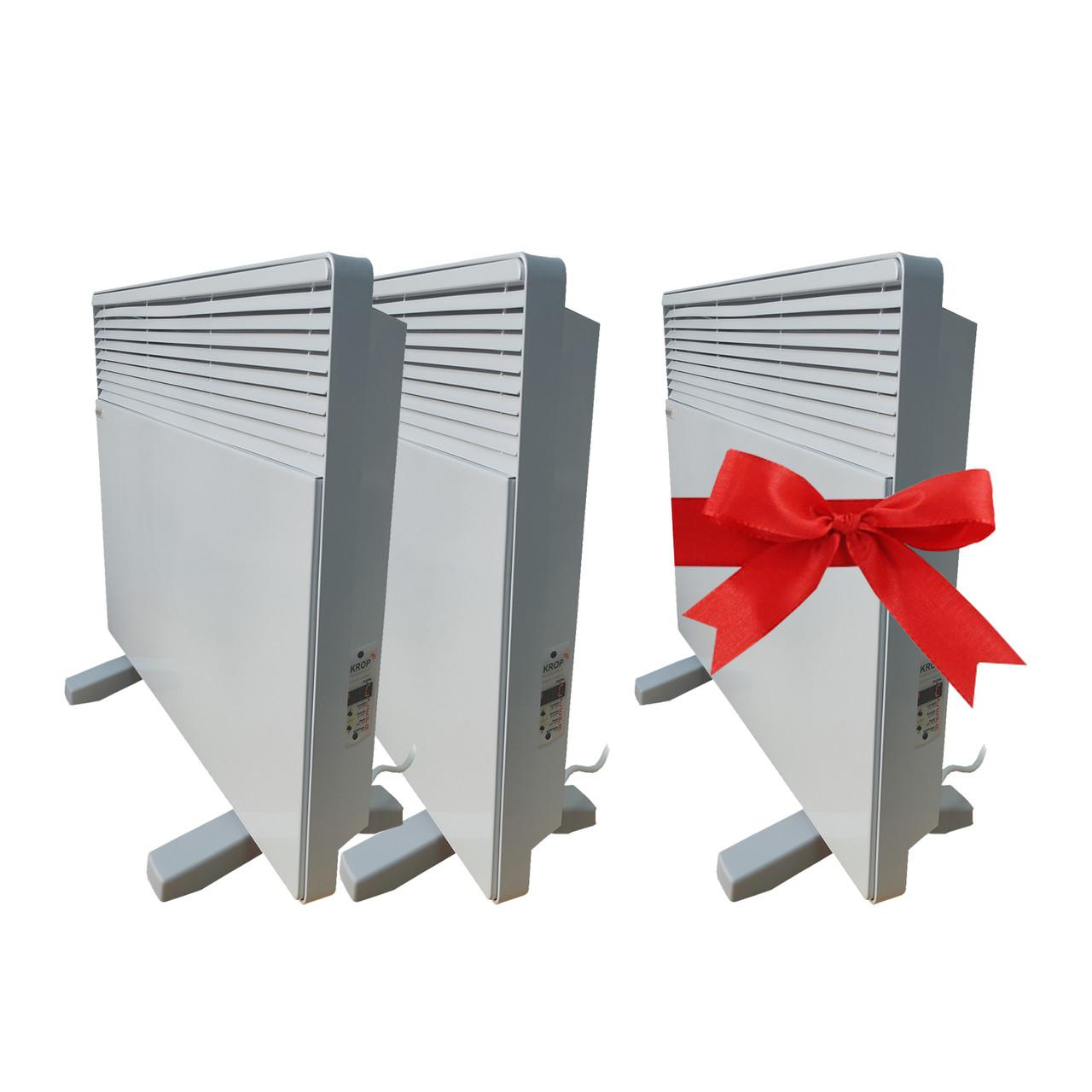 Промонабір 1+1=3. Розумний еко конвектор електричний Eco-obogrev ЕК 1000П з термопрограмматором, до 10-20 кв
