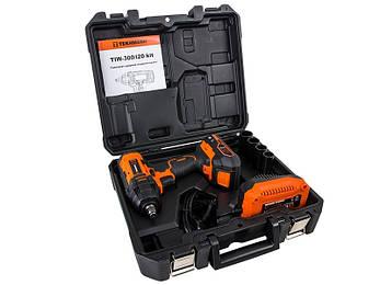 Ударный гайковёрт аккумуляторный tekhmann twi-300/i20 kit, фото 2