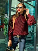 Женский свитер с крупной вязки