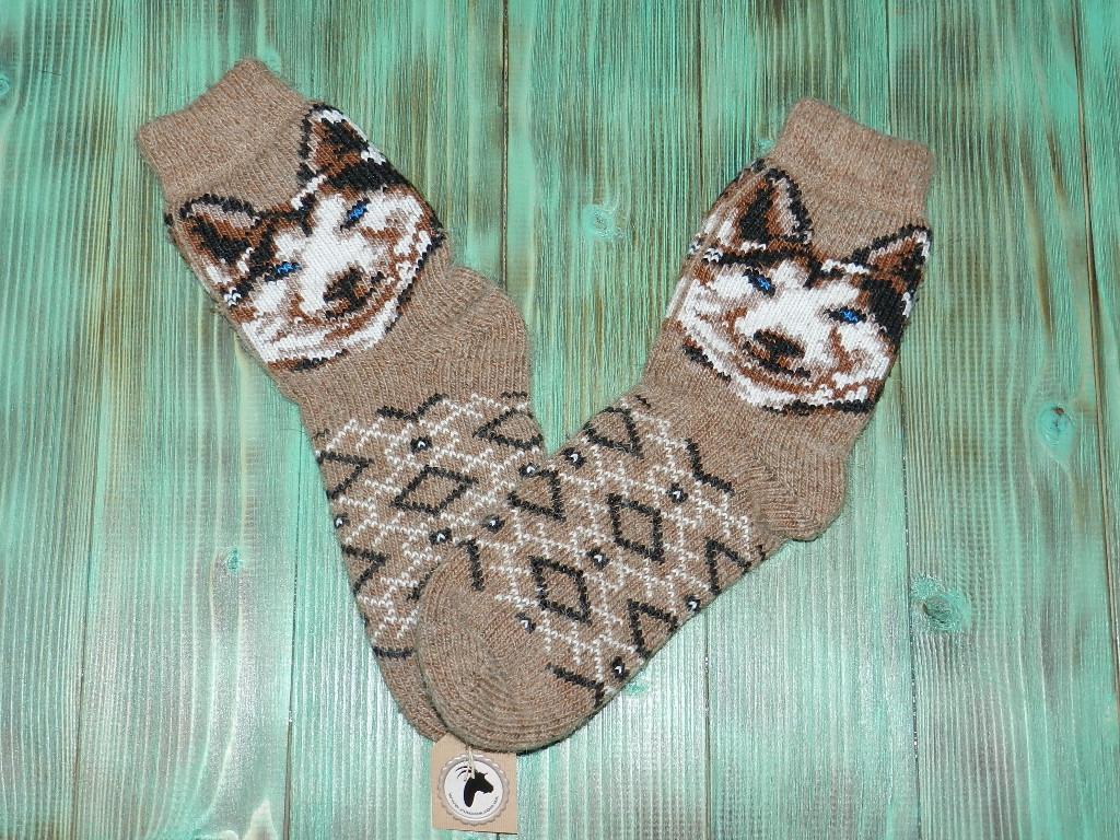 Носки из ангорской шерсти 25 см