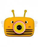 Детский цифровой фотоаппарат Желтая Пчелка Children`s fun 20Мп Full HD 1080p (PYB), фото 2