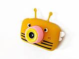 Детский цифровой фотоаппарат Желтая Пчелка Children`s fun 20Мп Full HD 1080p (PYB), фото 5