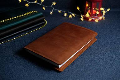 """Обложка с органайзером для ежедневника формата А5 """"Модель №15"""", Винтажная кожа, цвет коричневый, оттенок"""