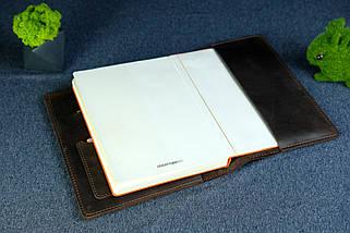 """Обкладинка з органайзером щоденника формату А5 """"Модель №15"""", Вінтажна шкіра, колір Шоколад, фото 3"""