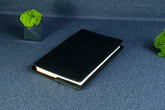 """Обложка с органайзером для ежедневника формата А5 """"Модель №15"""", Кожа Итальянский Краст, цвет Черный, фото 3"""