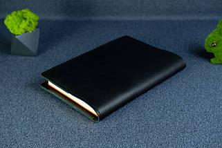 """Обложка с органайзером для ежедневника формата А5 """"Модель №15"""", Кожа Итальянский Краст, цвет Черный, фото 2"""